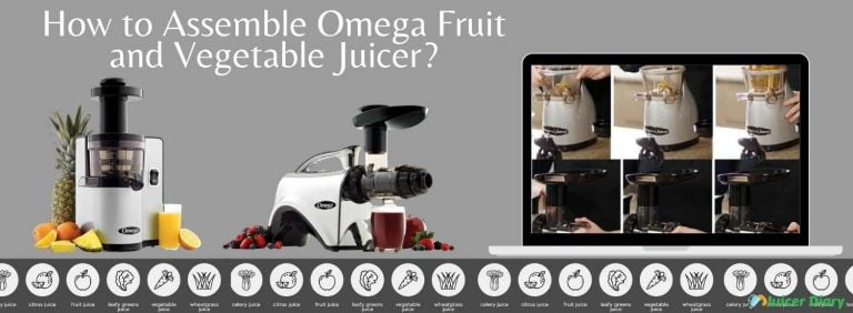 how to assemble Omega fruit and vegetable juicer