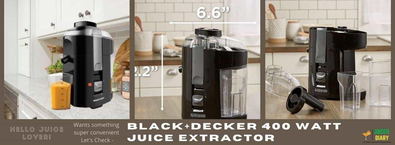 BLACK+DECKER 400-Watt Juice Extractor Reviews
